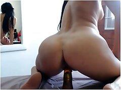 Brunette, Masturbation, Webcam