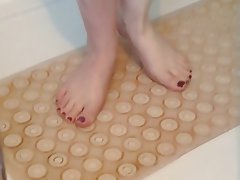 Amateur, British, Foot Fetish, Shower