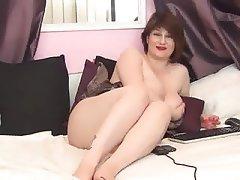 Webcam, BBW, Big Nipples, Saggy Tits