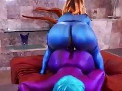 Big Butts, Hardcore, Lesbian, Strapon