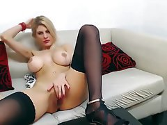 Big Boobs, Big Butts, Blonde, Masturbation, Webcam