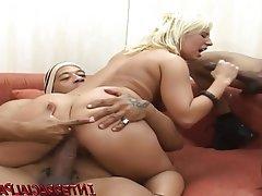Blonde, Interracial, Double Penetration, Big Cock, Black