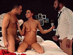 Babe, Threesome, Threesome, British, Teen