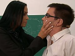MILF, Blowjob, Brunette, Teacher