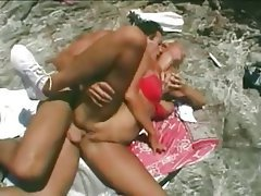 Amateur, Beach, Blonde, Threesome