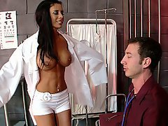 Doctor, Brunette, Piercing, Blowjob