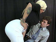 Blonde, Glasses, Big Tits, Teacher