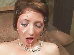 Brunette, Cumshot, Group Sex, Threesome