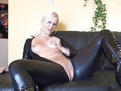 Amateur, Blonde, Latex, Masturbation, Squirt