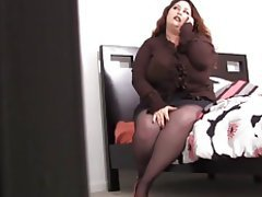 Mature stockings brunette hotel rendezvous