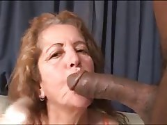 Brazil, Cumshot, Granny, Interracial, Mature