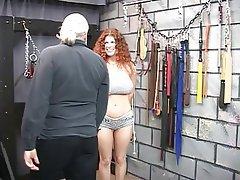 BDSM, Redhead, Mature, Big Boobs, Lingerie