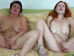 BBW, Lesbian, Mature, Old and Young, Redhead