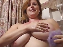 Big Boobs, British, Close Up, Shower