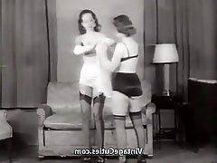 Brunette, Lingerie, MILF, Stockings, Vintage