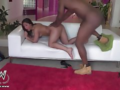 Big Butts, Blowjob, Interracial, Outdoor